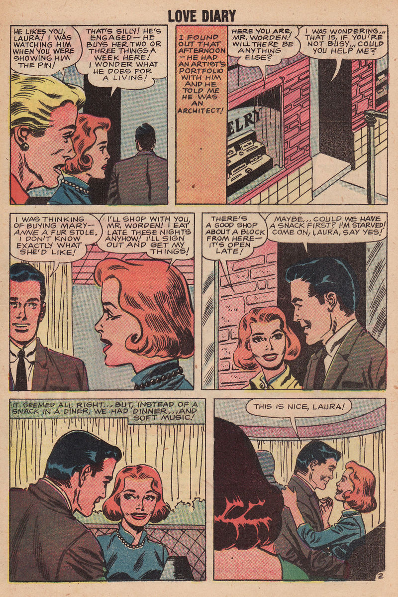 comicbook love story,engagement,unrequited love