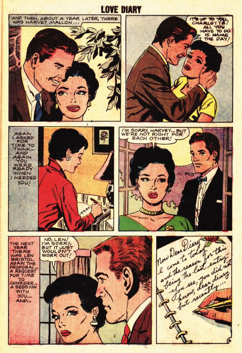 comicbook,love story,reading  - The Last Entry - Comicbook Love Story