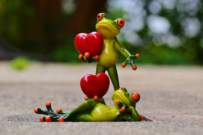 Frogs and hearts