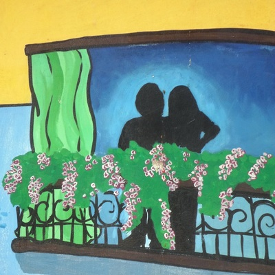 Painting Of Lovers At The Window