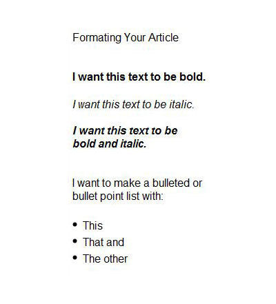 writing for truly heart,formatting,article